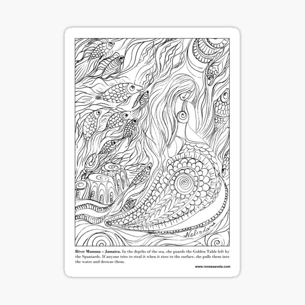 River Mumma – Jamaican #Mermaid Sticker