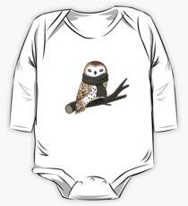 Winter Owl Long Sleeve Baby One-Piece