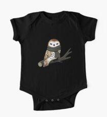 Winter Owl One Piece - Short Sleeve