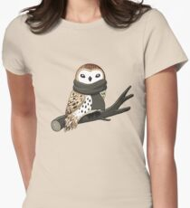 Winter Owl Women's Fitted T-Shirt