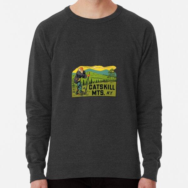 Catskill Mountains New York Vintage Travel Decal Lightweight Sweatshirt
