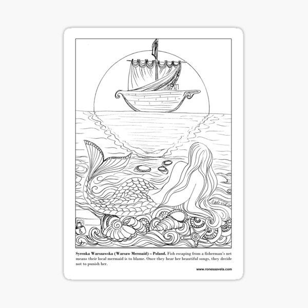 Warsaw Mermaid - Polish #Mermaid Sticker