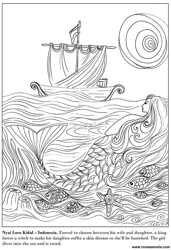 Nyai Loro Kidul – Indonesian #Mermaid by aveela