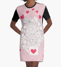bouquet with love Graphic T-Shirt Dress