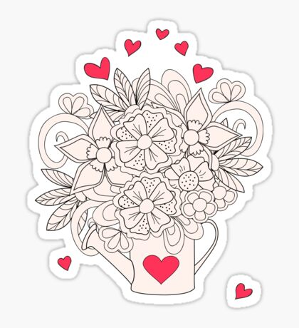 bouquet with love Sticker