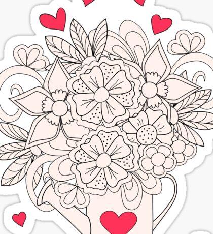 bouquet with love Sticker