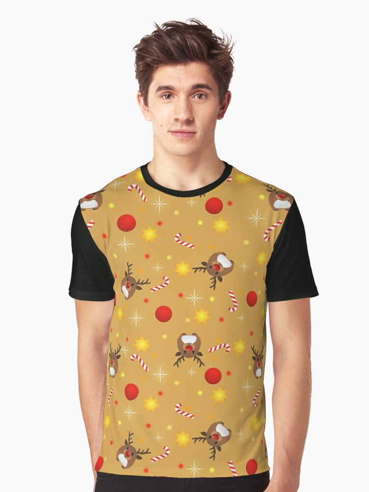 Cute Red-Nosed Reindeer  Graphic T-Shirt Front