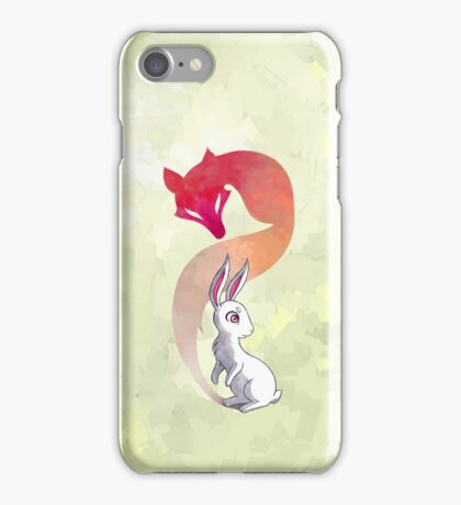 Rabbit and a Fox iPhone Case/Skin
