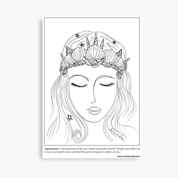 #Mermaid Crown Canvas Print
