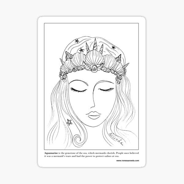 #Mermaid Crown Sticker