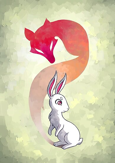Rabbit and a Fox by freeminds