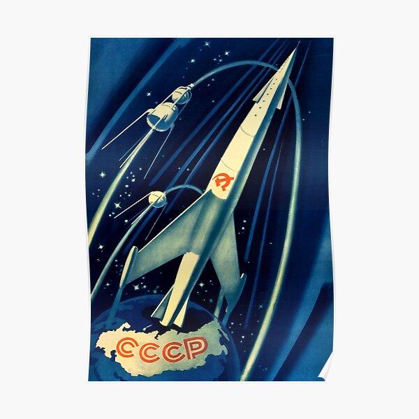 Soviet Propaganda Poster - Space Poster