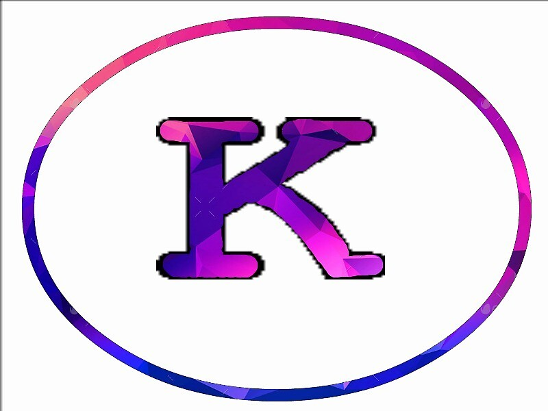 K logo (purple polygon texture) by Kyle Kolyer