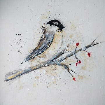 Chickadee Painting by Ambrosia