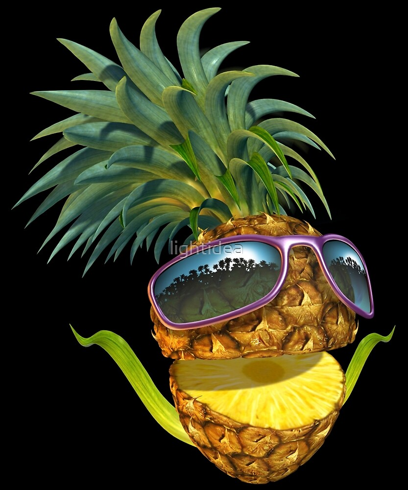 Pineapple with Sunglasses by lightidea