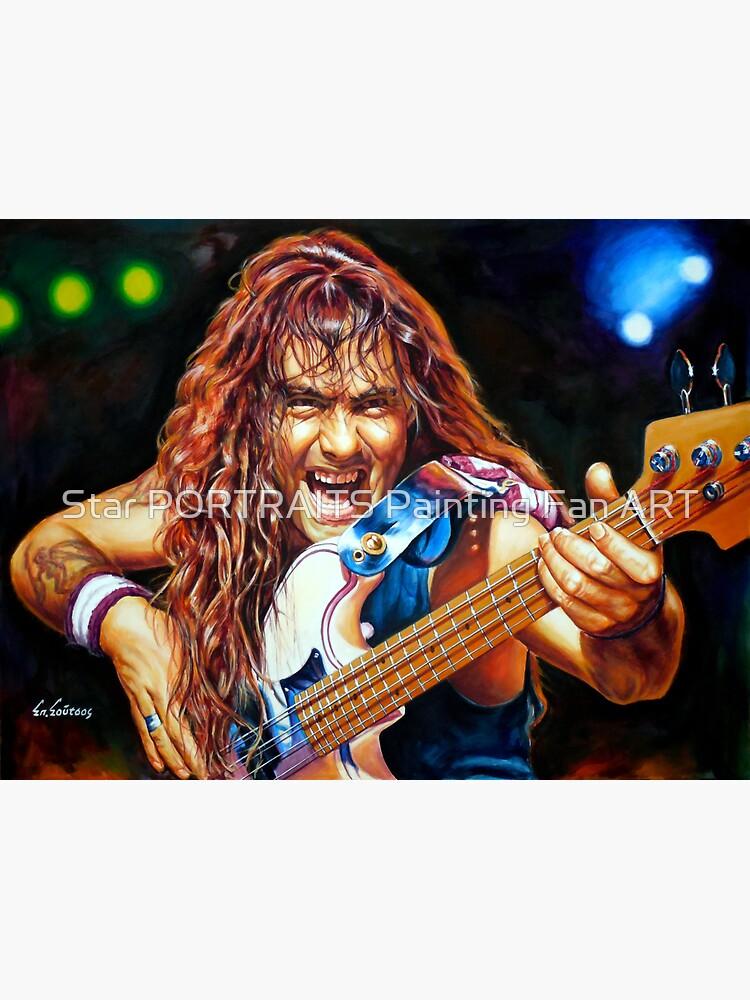 Steve Harris Iron Maiden Gemälde Porträt von spirossoutsos