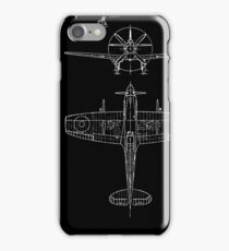 Spitfire aircraft blueprints iPhone Case/Skin