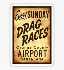 Drag Races Poster Art Sticker