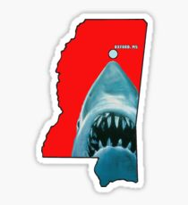 Ole Miss Landsharks Sticker