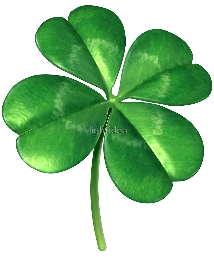 Lucky Four-Leaf Clover by lightidea