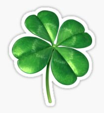 Lucky Four-Leaf Clover Sticker