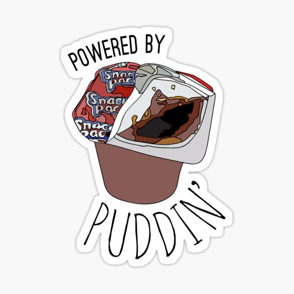 Powered by Puddin' Sticker