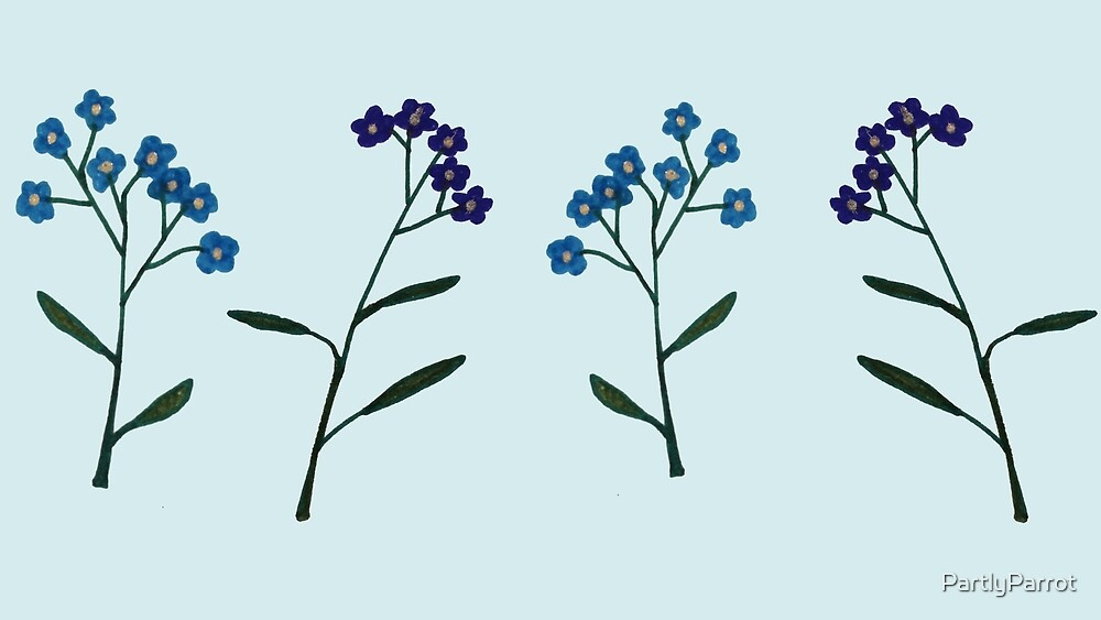 Forget-Me-Nots by PartlyParrot