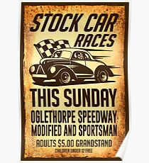 Stock Car Races Poster