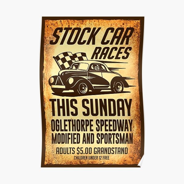 Stock Car Races Poster