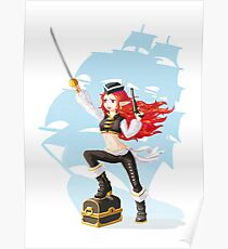 Pirate Girl Poster
