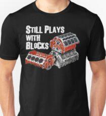 Spielt immer noch mit Blöcken Slim Fit T-Shirt