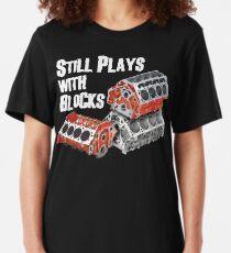 Still Plays With Blocks Slim Fit T-Shirt