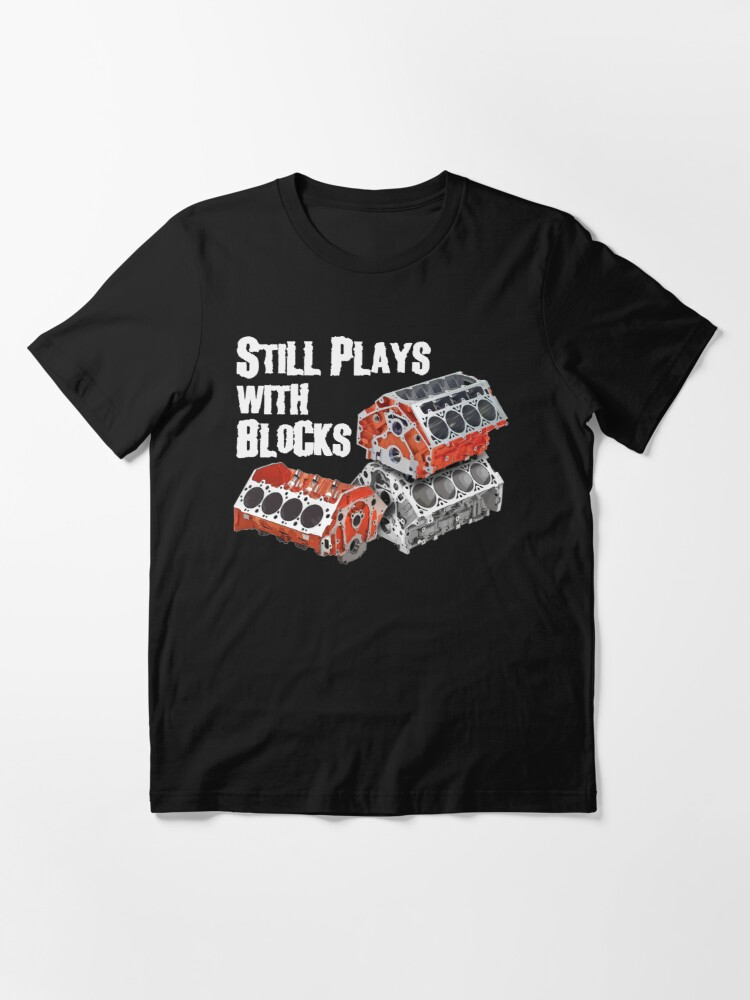 Alternate view of Still Plays With Blocks Essential T-Shirt