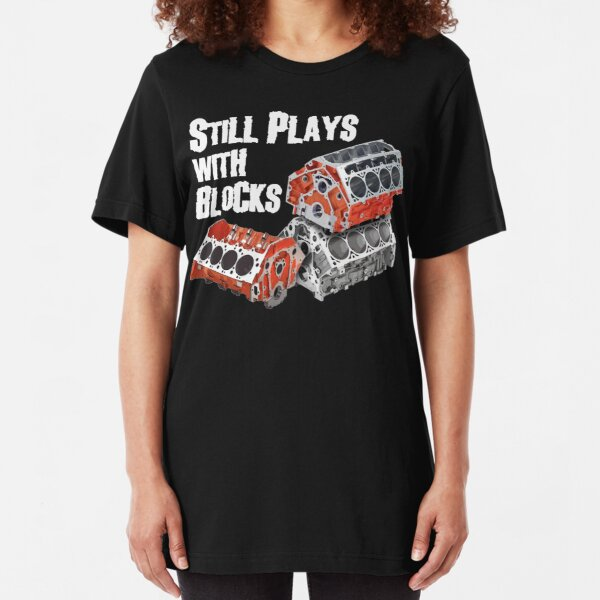 Still Plays With Blocks Slim Fit T-Shirt