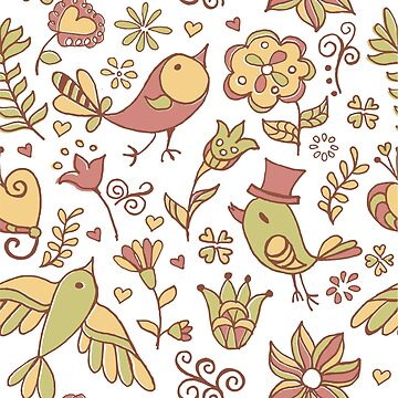 Funny burds and flowers by Olga-donsk