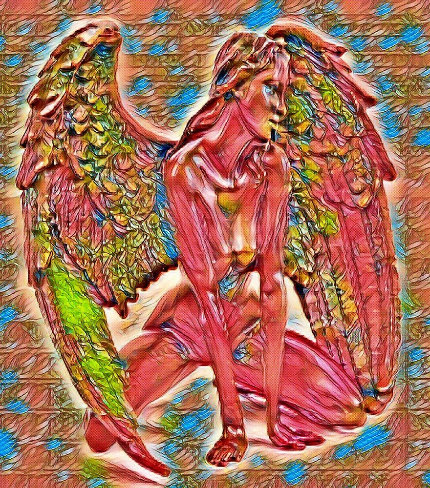 Stain Glass Style Angel by Johnhalifax