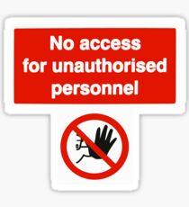 No Access Sticker
