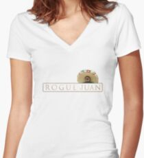 Rogue Juan Women's Fitted V-Neck T-Shirt