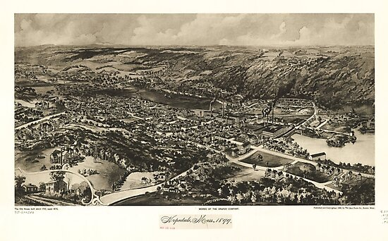 Aerial View of Hopedale, Massachusetts (1899) by allhistory