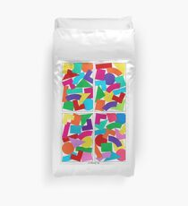 COLOR COMPOSITIONS WITH FIGURES Duvet Cover