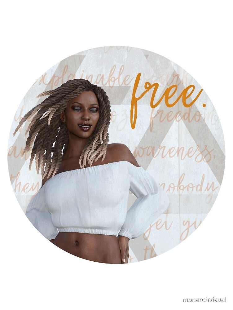 Carefree She (Round Design) by monarchvisual