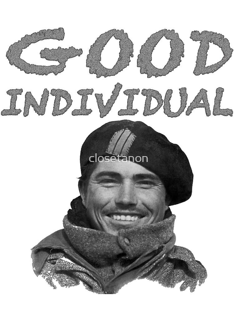 Good Inividiual by closetanon