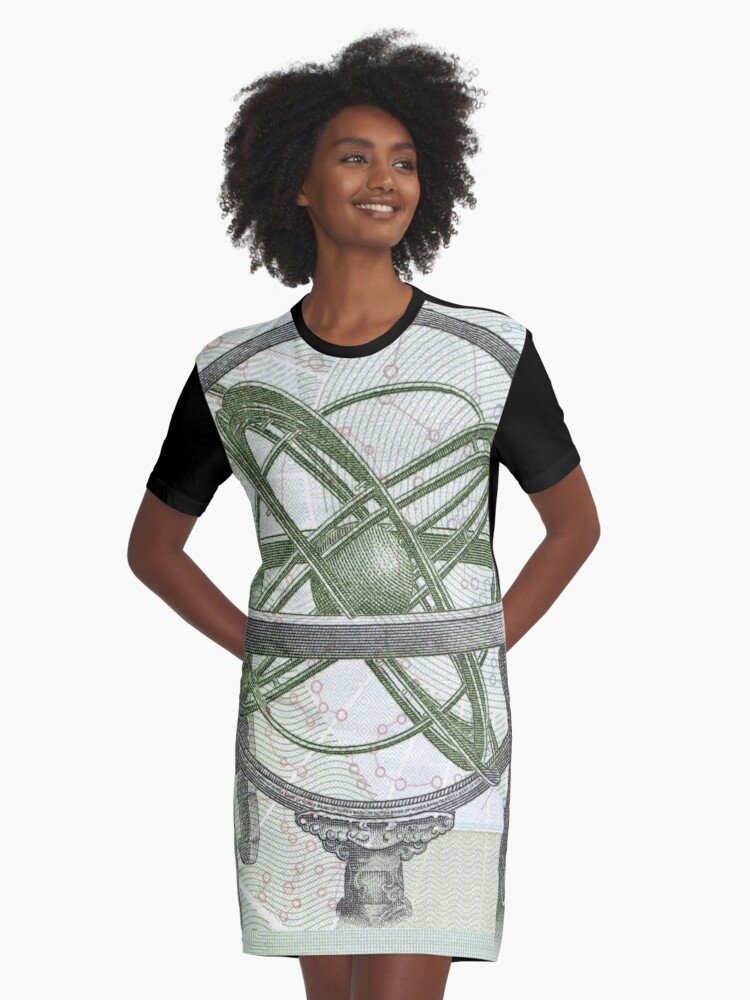 Bank note Graphic T-Shirt Dress Front