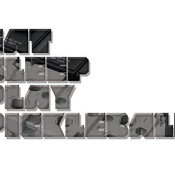 Eat Sleep Dink Pickleball Series, Mech Version by pickleball