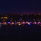 Twinkling Lights Of Boats Lined Up  by ShotsOfLove