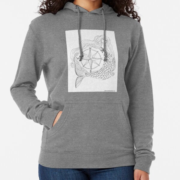 Thessalonike – Macedonian #Mermaid with Compass Lightweight Hoodie