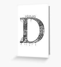 Zentangle D Greeting Card