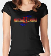 Mortal Kombat 2 (Genesis Title Screen) Women's Fitted Scoop T-Shirt