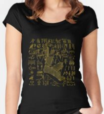 Egyptian Anubis & Hieroglyphics Women's Fitted Scoop T-Shirt