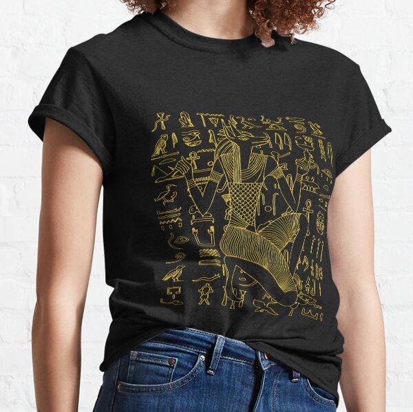Egyptian Anubis & Hieroglyphics Classic T-Shirt